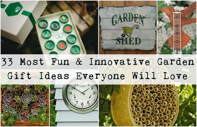 33 Sjoveste & innovative haven gaveideer hver gartner vil elske