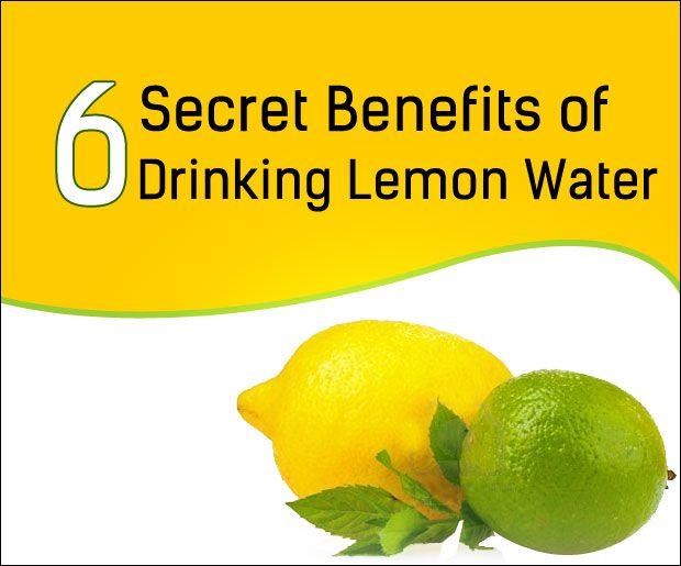 6 Hemmelige fordele ved at drikke citron vand