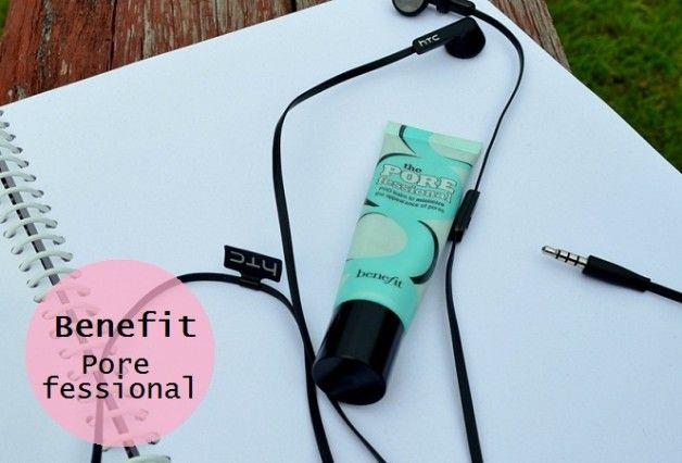 Benefit kosmetik den porefessional primer gennemgang, farveprøver og før efter sammenligning