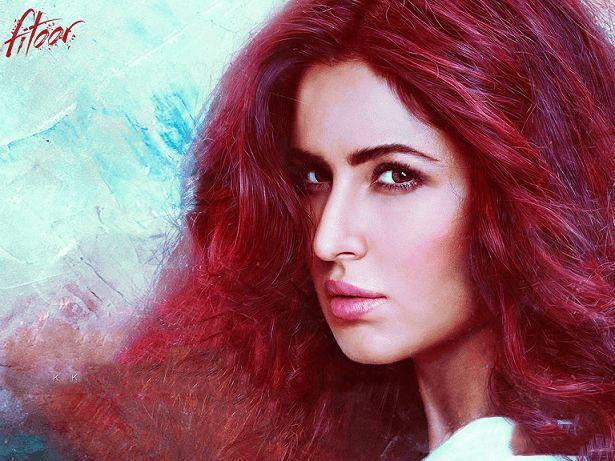 Katrina kaif fitoor film udseende afkodes: outfits, makeup, rødt hår