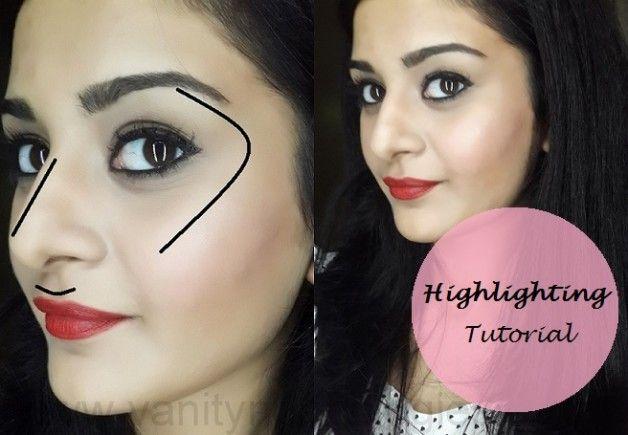 Tutorial: hvordan man fremhæve ansigt (trin + makeup produkter anvendt)